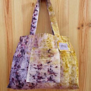 Tote bag yellow & purple