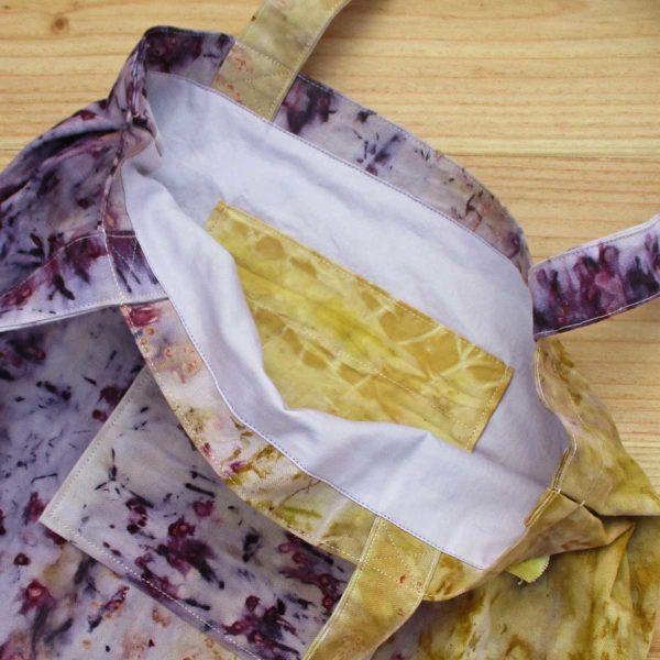 Bolso tote yellow & purple