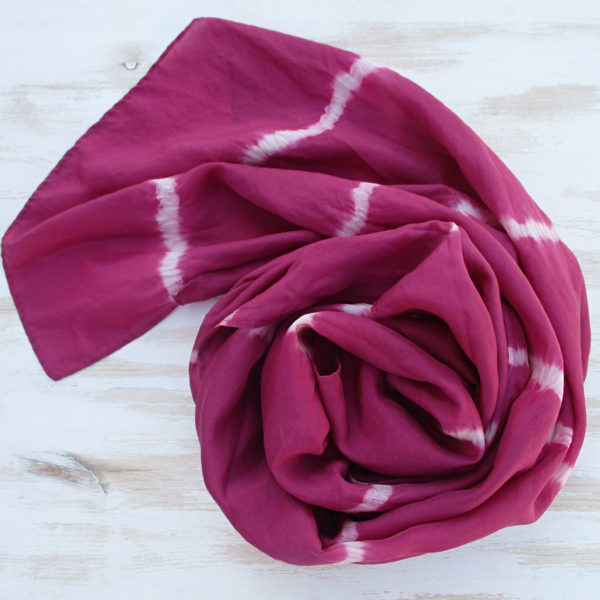 Fular seda cochineal stripes