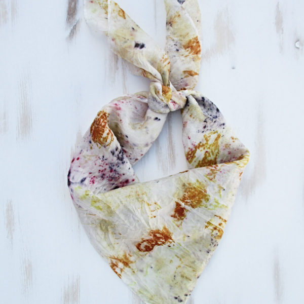 Silk bandana multicolor print