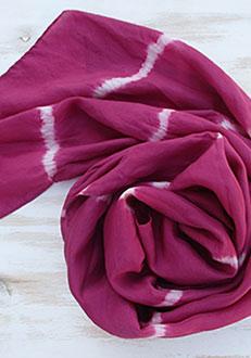 Fular de seda cochineal stripes